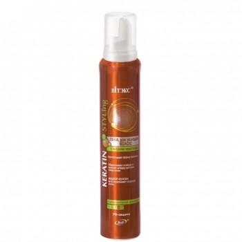 Пена для укладки волос с жидким кератином суперсильной фиксации (200 мл) на beluxshop.com
